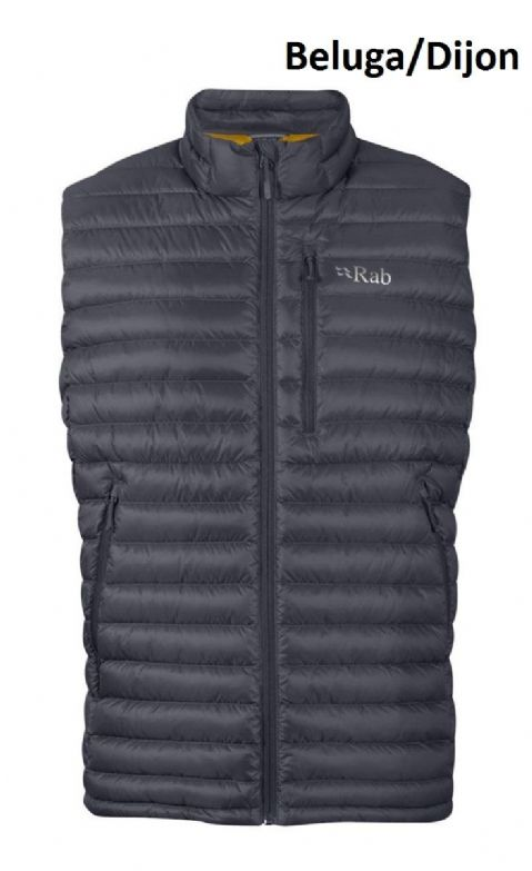 Rab Mens Microlight Down Vest - Warm - Lightweight